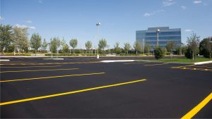 Parking lot paving in Calgary