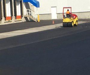 Industrial asphalt paving in Calgary