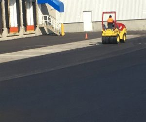 Industrial asphalt paving in Calgary